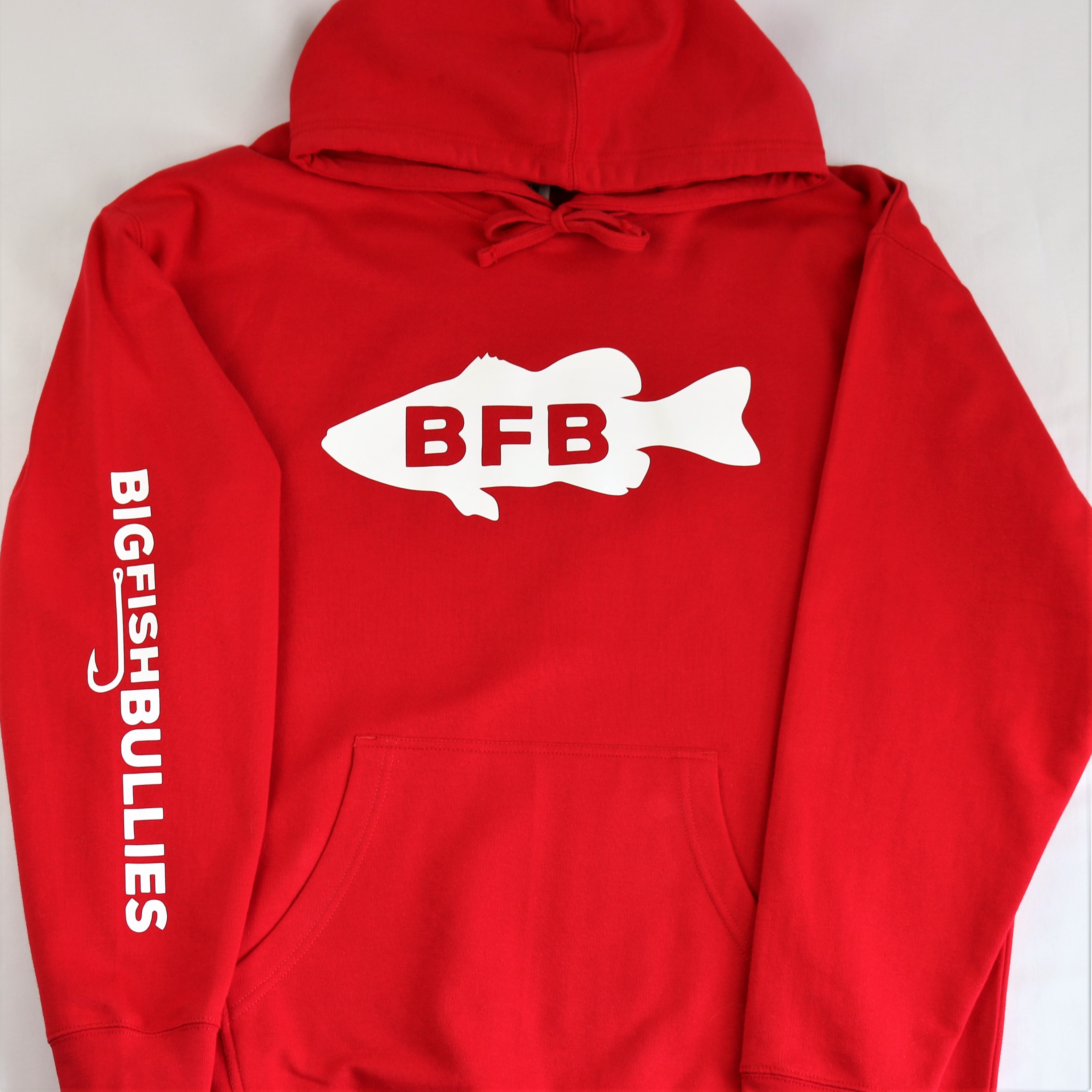 """BFB Fish Midweight Hoodie """"Red"""""""