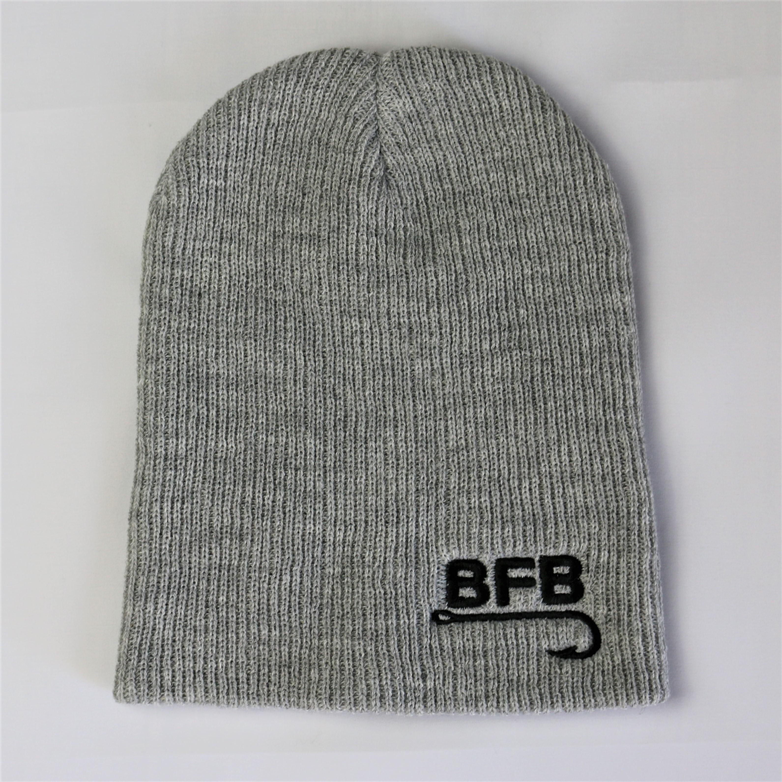 """BFB Classic Slouchy Knit Beanie """"Heather Grey"""""""