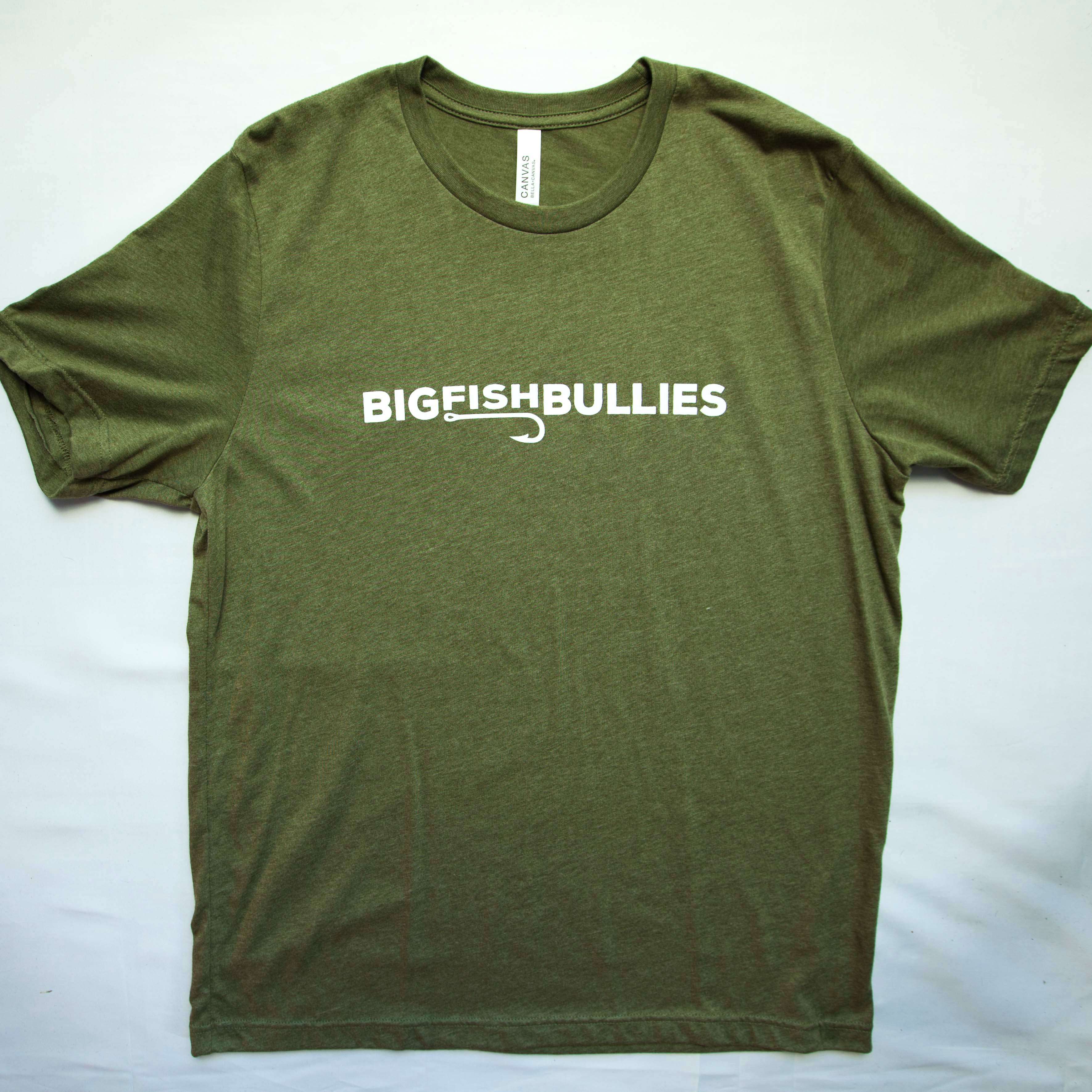 """Hooked Poly Blend T-Shirt """"Olive"""""""
