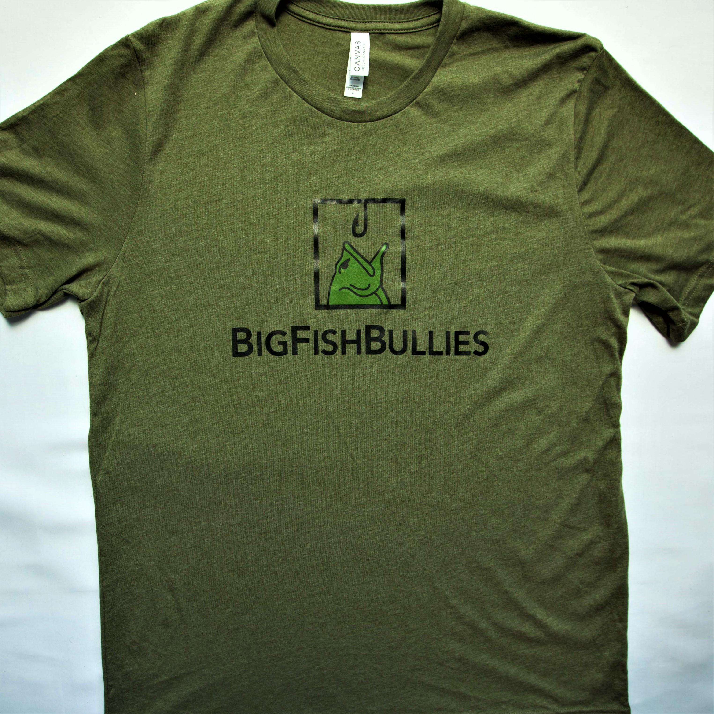 "The BigFishBullies Poly Blend T-Shirt ""Olive"""