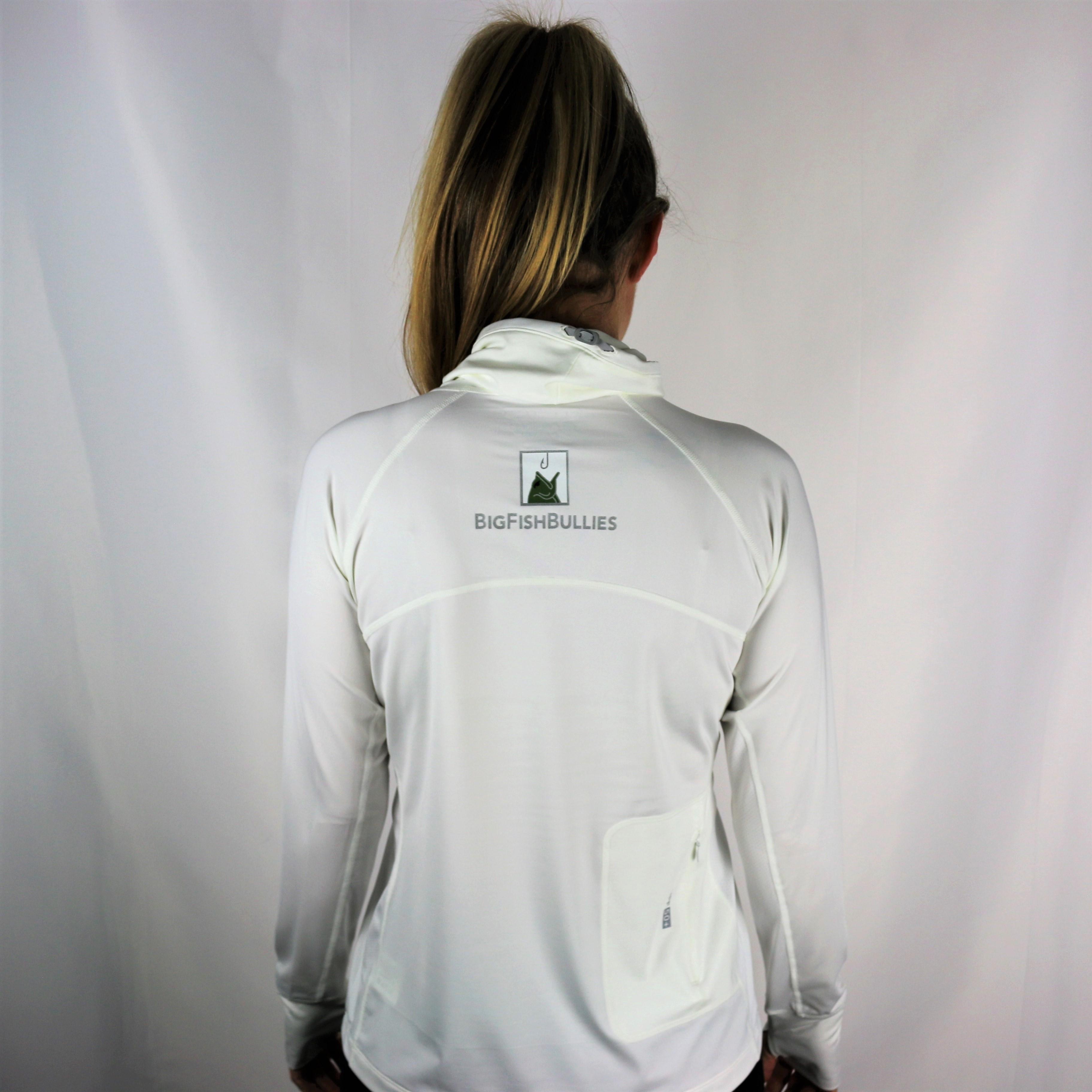 """The BigFishBullies Women's Coolibar Sun Shirt """"White"""""""