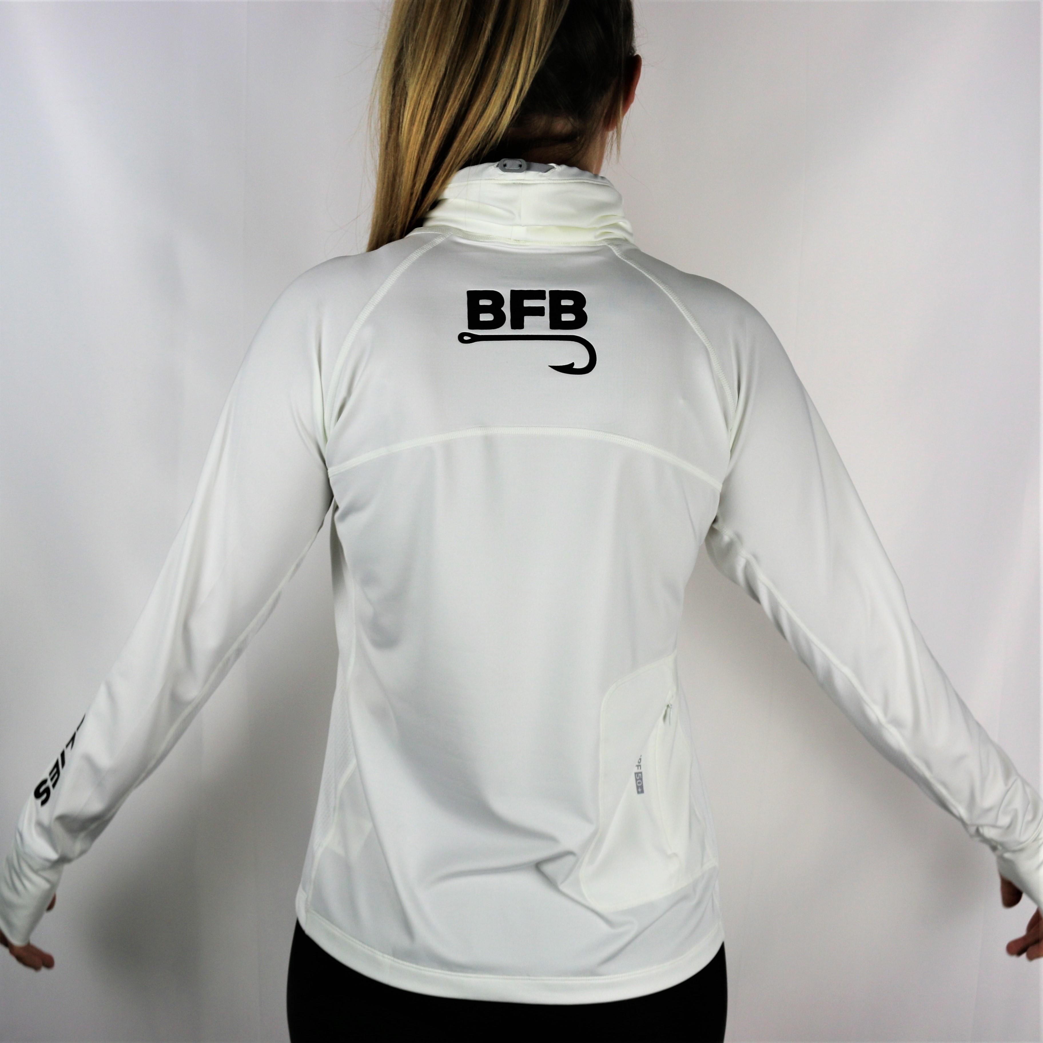 "BFB Classic Women's Coolibar Sun Shirt ""White"""