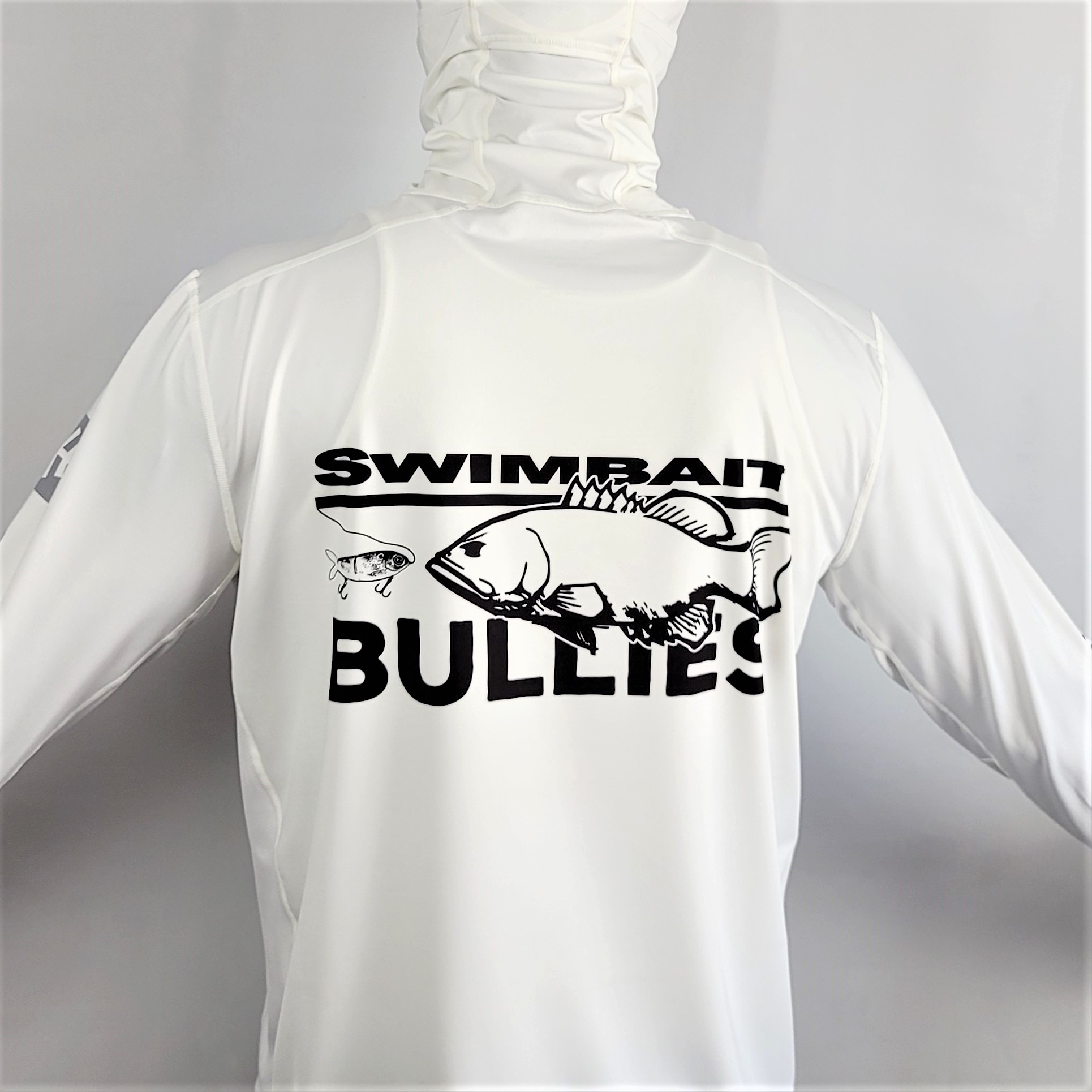 "Swimbait Universe X BFB Collab Hooded Sun Shirt ""White"""
